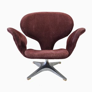 Model Tulip Swivel Chair with Corduroy Upholstery from Rohé Noordwolde, 1960s