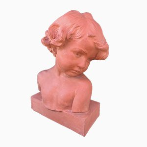 Vintage Bust of Young Girl by Jean Marie Camus