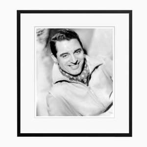 Cary Grant Cravatte Archival Pigment Print Framed in Black by Everett Collection