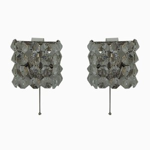 Nickel-Plated Wall Lights from Bakalowits & Söhne, 1950s, Set of 2