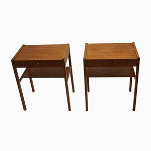 Vintage Scandinavian Teak Bedside Tables, 1966, Set of 2