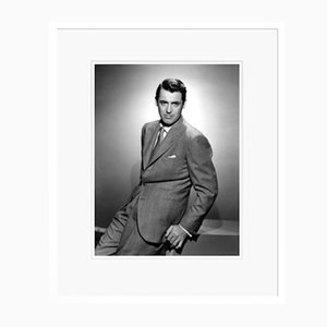 Cary Grant Posing Archival Pigment Print Framed in White by Everett Collection