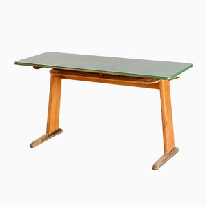 German School Desk with Green Top, 1960s