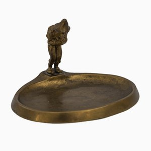 Jugendstil Bronze Ashtray, Vienna, 1905