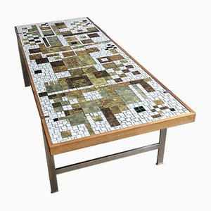Mid-Century Rectangular Glass Mosaic Coffee Table by Berthold Müller for Oerlinghausen
