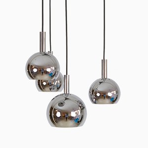 Modernist German Chrome-Plated Pendant, 1970s
