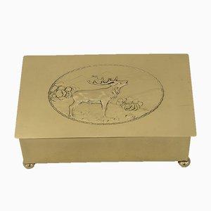 Art Deco Hunting Motiv Jewelry Box from WMF, 1920s
