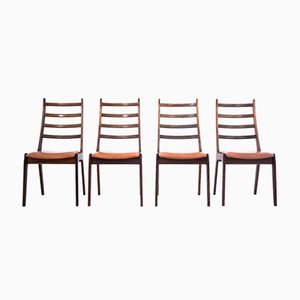 Mid-Century Danish Rosewood Dining Chairs, 1960s, Set of 4