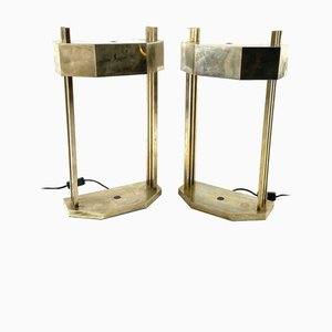 Bauhaus Cubist-Shaped Paris Expo Table Lamps by Marcel Breuer, 1940s, Set of 2