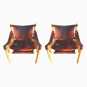 Mid-Century Sirocco Armchairs by Arne Norell for Arne Norell AB, Set of 2