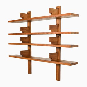 B17 Bookshelf in Solid French Elm by Pierre Chapo, 1960s