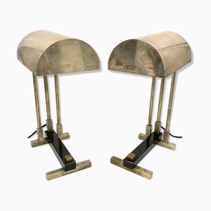 Bauhaus Cubist-Shaped Table Lamps from Diamant Art Studio, New York, 1938s, Set of 2