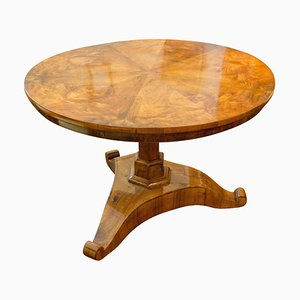 19th Century Biedermeier Center Walnut Table