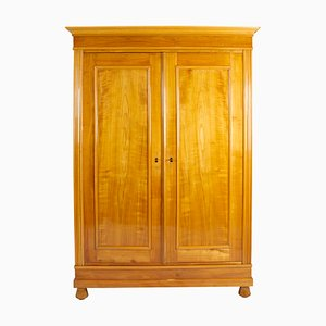 German Art Nouveau Cherrywood Wardrobe