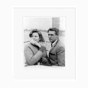 Cary Grant & Ingrid Bergman Archival Pigment Print Framed in White by Everett Collection