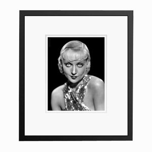 Carole Lombard Eyes Archival Pigment Print Framed in Black