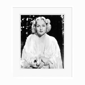 Glamorous Carole Archival Pigment Print Framed in White by Everett Collection