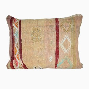 Oversize Turkish Lumbar Kilim Cushion Cover