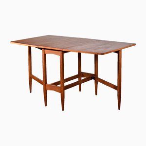 Mid-Century Modern Teak Drop Leaf Dining Table, 1960s