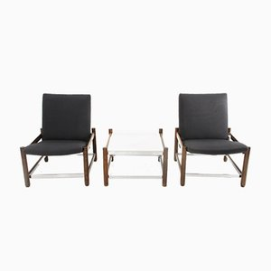 Armchair & Coffee Table from Dal Vera, 1960s, Set of 3