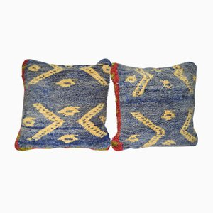 Turkish Tulu Rug Cushion Covers, Set of 2