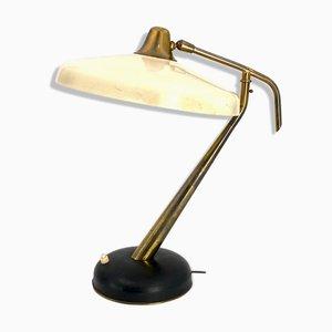 Lámpara de escritorio modelo 331 Mid-Century de latón de Oscar Torlasco para Lumi, años 50