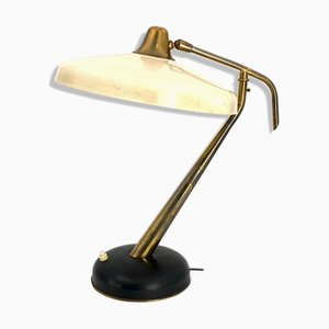 Mid-Century Brass Model 331 Executive Desk Lamp by Oscar Torlasco for Lumi, 1950s