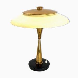 Lampe de Bureau Modèle 442 Mid-Century en Laiton par Oscar Torlasco pour Lumi, 1960s