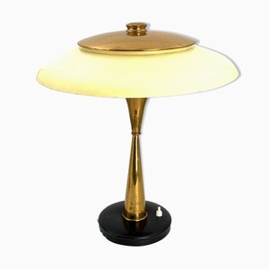 Mid-Century Brass Model 442 Executive Desk Lamp by Oscar Torlasco for Lumi, 1960s