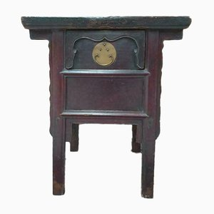 19th Century Chinese Rosewood Money Table with Drawer