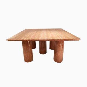 Table de Salle à Manger Colonnade en Marbre par Mario Bellini pour Cassina, 1970s