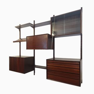 Rosewood Modular Wall Unit by Poul Cadovius for Cado, 1950s
