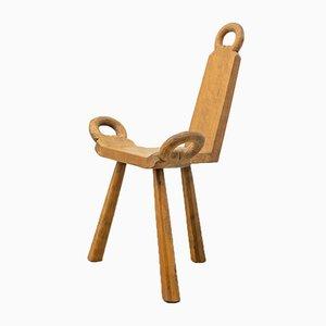 Dreibeiniger Vintage Stuhl, 1950er
