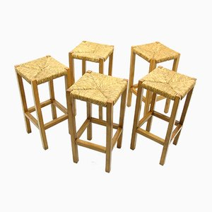 Vintage Barstools, 1980s, Set of 5