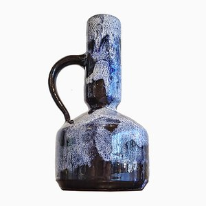 Mid-Century Blue and White Studio Pottery Handle Vase
