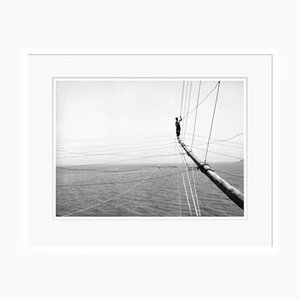 Fisherman on a Trabucco Oversize Archival Pigment Print Framed in White by Für Kunst Und Geschichte