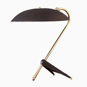 Brass & Metal Crow's Foot Tripod Table Lamp in the Style of Carl Auböck, 1950s