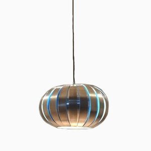 Bicolored Aluminium Lamello Pendant Lamp by Henri Mathieu