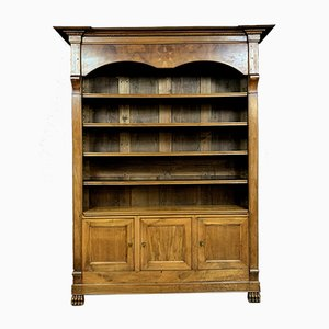 Empire Blond Walnut and Marquetry Bibus Bookcase