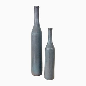 Grey Ceramic Vases by Jacques & Dani Ruelland for Ruelland, 1960s, Set of 2