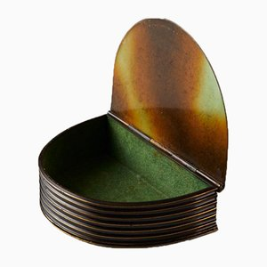 Lidded Box by Bernhard Linder for Svensk Metallkonst, Sweden, 1930s