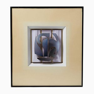 Framed Sculpture Blåsegel by Stig Åke Lund, Sweden, 1983