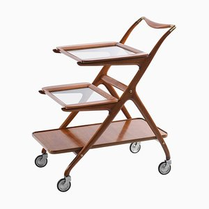 Mid-Century Italian N°65 Cart with 3 Removable Trays by Ico Parisi for De Baggis, 1952