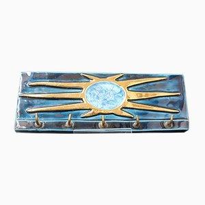 Französischer Mid-Century Schlüsselanhänger aus Keramik mit Schlüssel von Mithé Espelt, 1960er