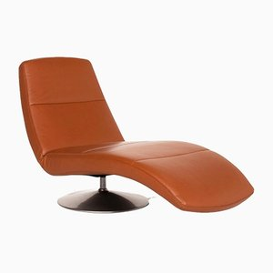 Cognac Brown Leather Lounge Chair from Ewald Schillig