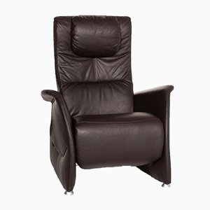 Dark Brown Leather Electric Armchair from Himolla