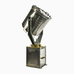 Vintage Boat Spotlight in Chromed Metal