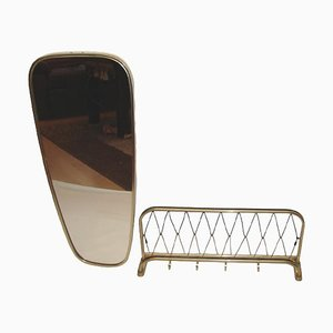 Mirror & Wall Hanger Set, 1970s