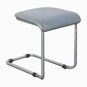 Cantilever Tubular Steel Footstool, 1950s