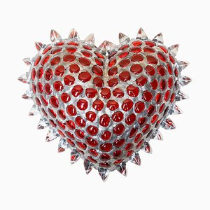 Cuore Heart Shaped Light Sculpture by Peppino Campanella, 2000s
